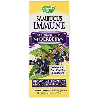 Nature's Way, Sambucus Immune, Sureau, Standardisé, 4 fl oz (120 ml)