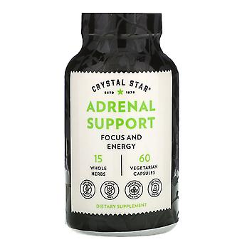 Crystal Star, Adrenal Support, 60 Vegetarian Capsules