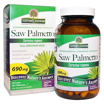 Nature's Answer, Saw Palmetto, Full Spectrum Herb, 690 mg, 120 Vegetarian Capsul