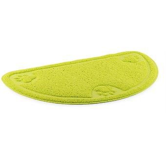 Ancol Dog Feeding Mat D-Shape Paw (60x 36cm) - Green
