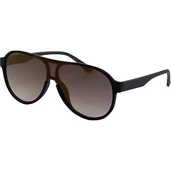 Solbriller Unisex Trend matt svart/brun (4210)