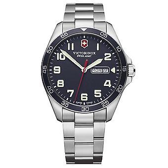 Victorinox Swiss Army Watches 241851 Fieldforce Navy & Silver Stainless Steel Men's Watch