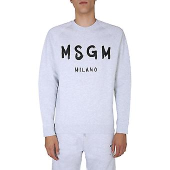 Msgm 2940mm10420759794 Herren's graue Baumwolle Sweatshirt