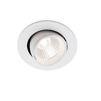 Integrierte LED Einbauleuchte Matt Weiß, Glas