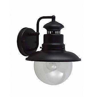 elstead shipston - 1 lys utendørs vegg lanterne lys svart, E27