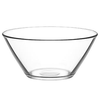 LAV Vega Glass Salad Bowl - 2.2 Litri - Single Mixing Bowl / Serving Bowl pentru paste / Popcorn