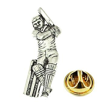 Ties Planet Cricket Player Pewter Lapel Pin Badge