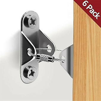 6 Sets Furniture Bolts Security Lock Anchor,  Straps Anti Tip Steel Protector