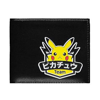 Pokemon Wallet Olympics Team Pikachu Logo new Official Black Bifold