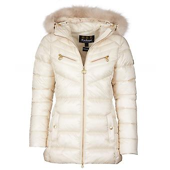 Barbour International Grounding Faux Fur Trim Quilted Jacket