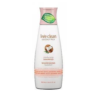 Live Clean Coconut Milk Moisturizing Shampoo, 12 Oz