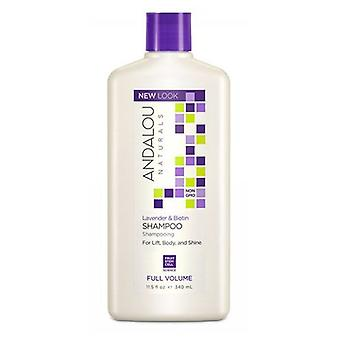 Andalou Naturals Full Volume Shampoo, Lavender and Biotin 11.5 oz