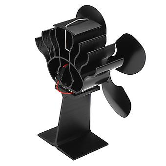 Fireplace 4 Blades Heat Powered Stove Fan Wood Burner Ecofan Quiet Heat Distribution Firewood Stove