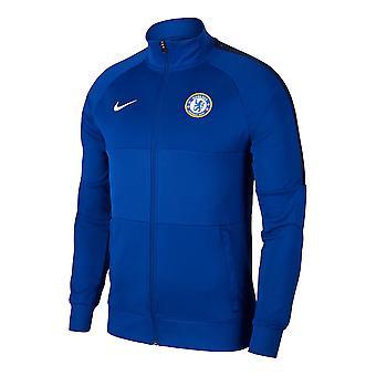 2020-2021 Chelsea Nike I96 Jas (Blauw)