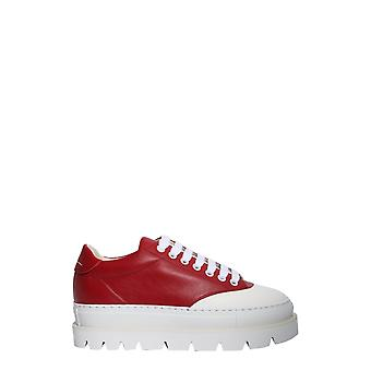 Mm6 Maison Margiela S59ws0063p1729962 Women's Red Leather Sneakers