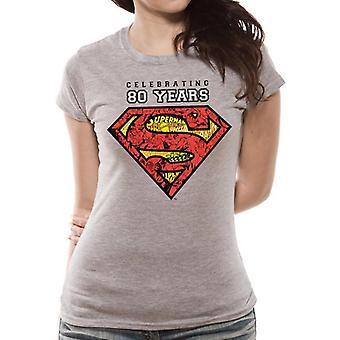 Superman Womens/Ladies Celebrating 80 Years T-Shirt
