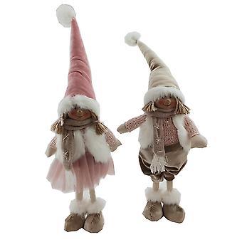 Santa Girl Pink staande 52 cm