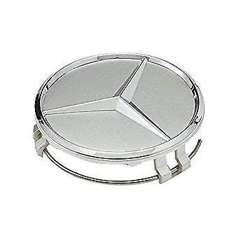 Silver Mercedes Benz Wheel Center Cap Hub Badge 75mm 1 PCS For A B C E S G CLASS CLA CLS SLK ML AMG