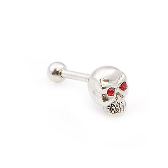 Ear cartilage jewelry with skull design 16g