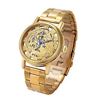 LUCKYFAMILY Luxury Men Watch Hollow Phoenix Self-winding Mechanical Watch
