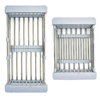 Haven Stainless Steel Retractable Kitchen Sink Rinse Basket Shelf - Grey