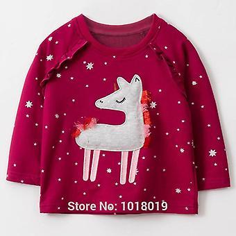 Hauts de sweat-shirt de filles, chemisiers de t-shirt, vêtements de bébé de hoodies d'enfants