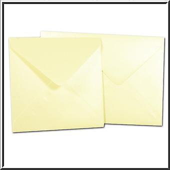10 مغلفات أوبال العاجية مربعة