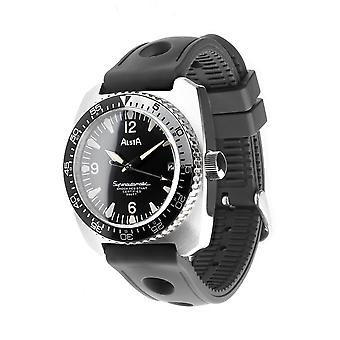 Alsta Nautoscaph Superautomatic 1970 Re-Edition Wristwatch Black Rubber