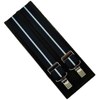 Krawaty Planet Navy & Light Blue Paski Męskie&s Spodnie Szelki