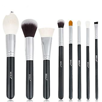 Professional Natural Goat Hair Black Makeup Foundation Powder Contour Brushes