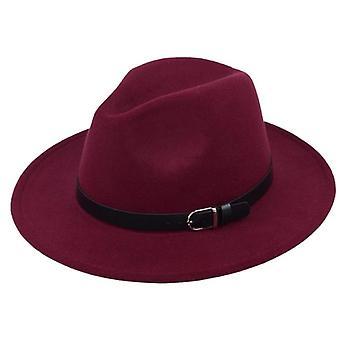 Klasické Britská Fedora a imitácia Vlnené Zimné Plstené klobúky Fashion Jazz Hat