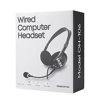 Usb Headset With Microphone, Noise Cancelling Computer Lightweight Wired