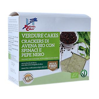 VERDURE CAKES-CRACKERS DI AVENA WITH SPINACI E PEPE NERO 250 g