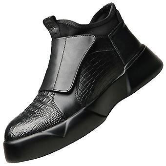 أزياء عالية مارتن تمساح الأحذية الجلدية قصيرة