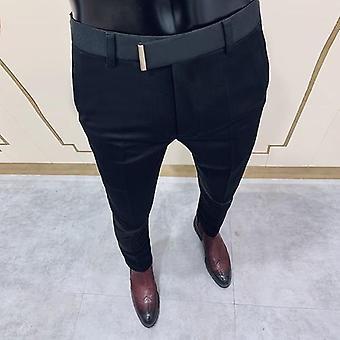 Miehet Business Slim Mekko Housut, Spring Korean Versio Suit Pant