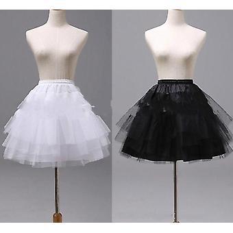 Najwyższej jakości biały czarny balet petticoat tiul ruffle krótki ślub lolita spódnica