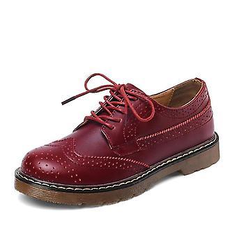 עור וינטאג', נעליים שטוחות, שרוכים נעליים קז'ואל