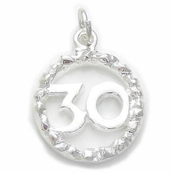 30e anniversaire Sterling Silver Charme .925 X 1 Anniversaires pour trente - 4905