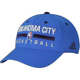 Oklahoma City Thunder NBA adidas Practice Flex Stretch Fitted Hat