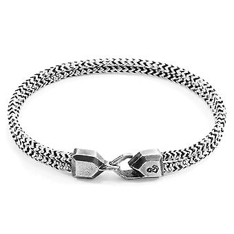 ANCHOR & CREW Cromer Silver and Rope Bracelet
