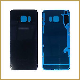 Til Samsung Galaxy S6 Edge Plus SM-G928F Bagside Batteridæksel Glas Sort