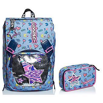 Schul-Kit - sieben erweiterbare BACKPACK + QUICK CASE CASE - STARRY RAINBOW