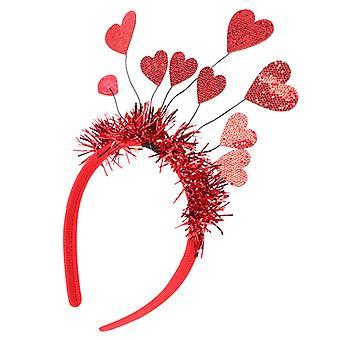 Heart Shape Decor Fascia di San Valentino per oggetti di scena per feste