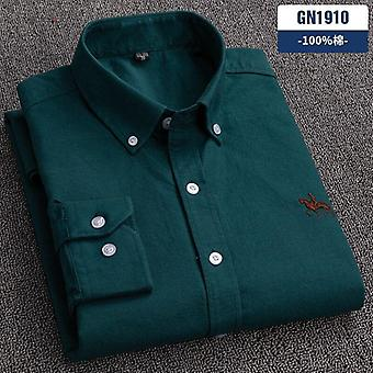 Slim Fit Button Collar Business Men Casual Shirts Tops