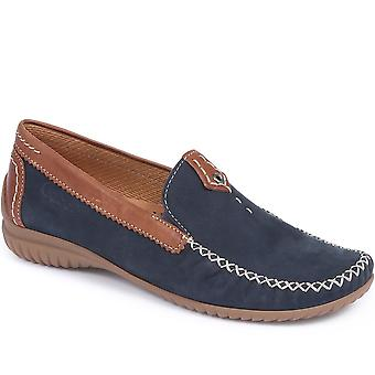 Gabor Womens Wide Fit California Leather Moccasin