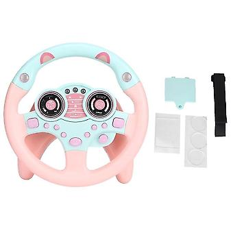 Electronic Light Simulation Car Driving Sound Steering Wheel