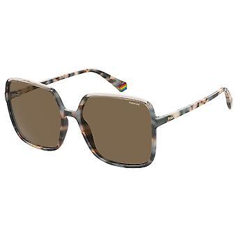 Polaroid PLD6128/S XLT/SP Havana Beige/Bronze Polarised Sunglasses
