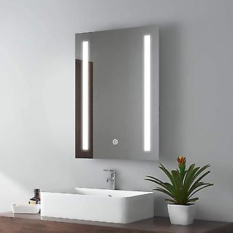 EMKE LED Badspiegel 50x70cm Badspiegel mit Beleuchtung kaltwei Lichtspiegel Badezimmerspiegel