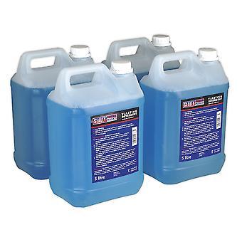 Sealey Vmr925 5Ltr detergente para alfombras y tapicería Pack de 4