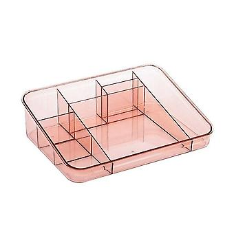 Nordic style 2 piece set of acrylic makeup and cosmetic storage organiser